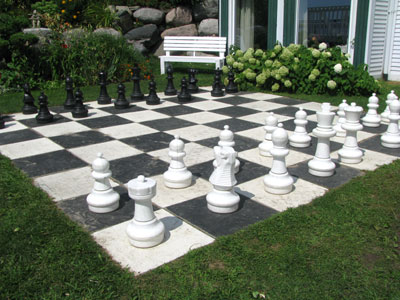 The Huge Outdoor Chessboard   A Popular Gathering Place